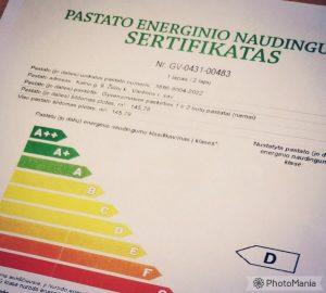 energinis sertifikatas